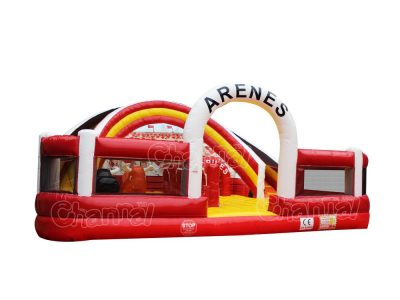 inflatable bullring playground