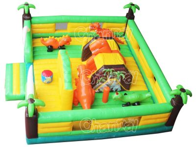dinosaur world inflatable playground