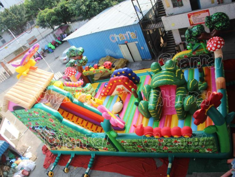 jungle insects themed inflatable playground