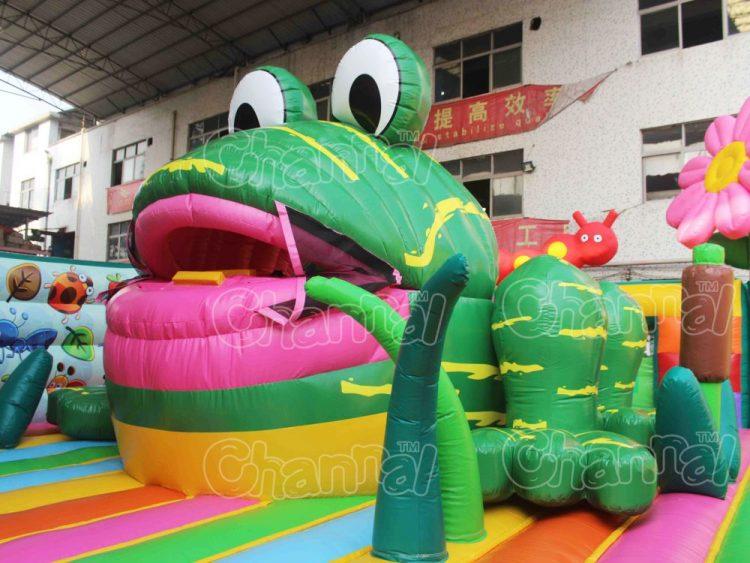 inflatable frog slide