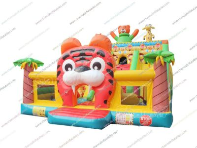 tiger inflatable playground