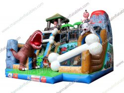 stone age inflatable playground