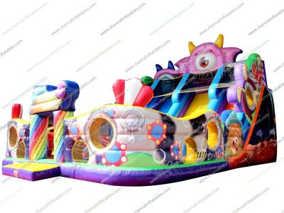 alien base inflatable slide playground