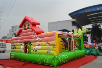 inflatable farm house interactive playground