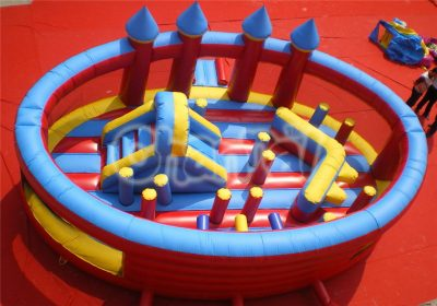 kids rounded inflatable obstacle playground