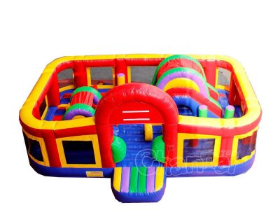 bouncy inflatable interactive obstacle playground