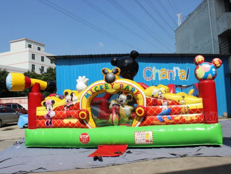 mickey mouse themed inflatable park for toddlers