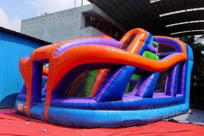 wacky inflatable obstacle playground