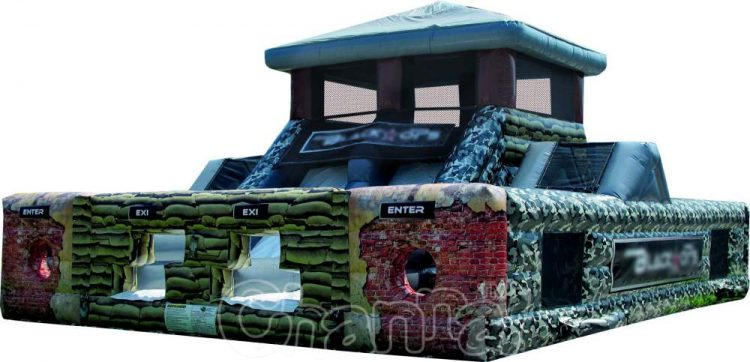 black ops inflatable obstacle course