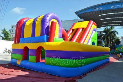 colorful commercial inflatable interactive playground