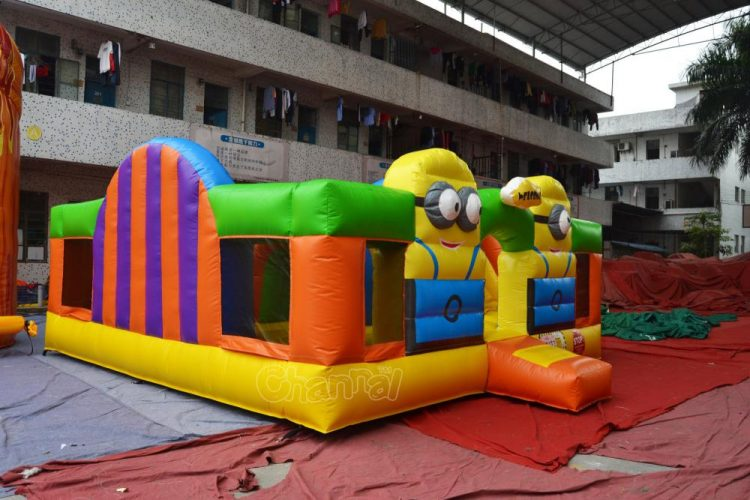 minion inflatable playground for small kids