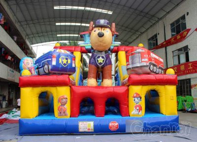 paw patrol bounce obstacle course