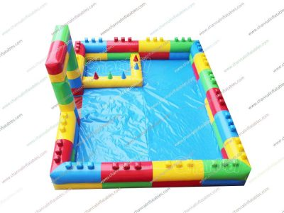 inflatable foam pit with air balls