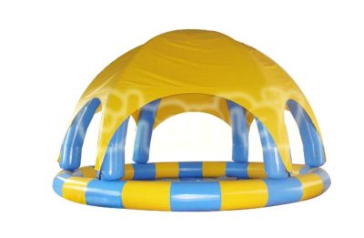 inflatable pool with dome shelter