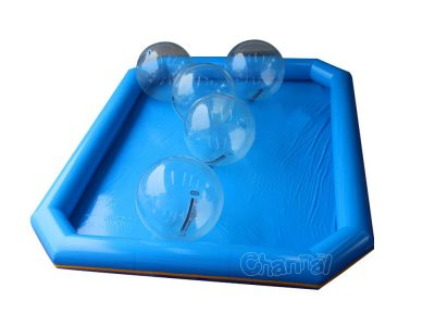 inflatable pool with water balls