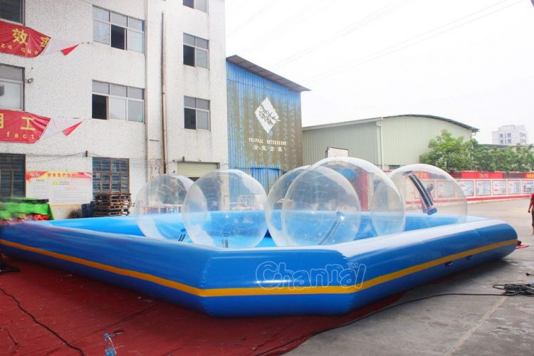inflatable water zorbing pool