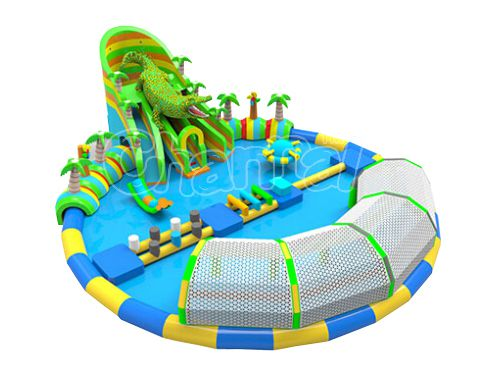 crocodile giant pool with slide
