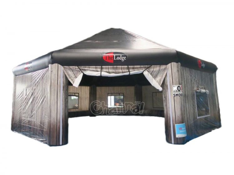 the lodge inflatable tent