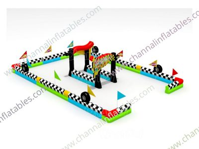 square inflatable race track