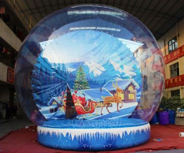 Christmas inflatable snow globe photo booth for sale