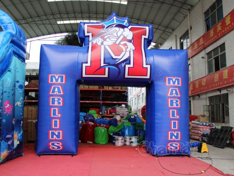 custom mascot marlins arch for football teams