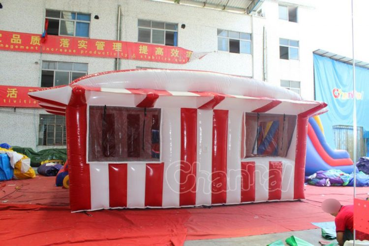 large inflatable ticket tent