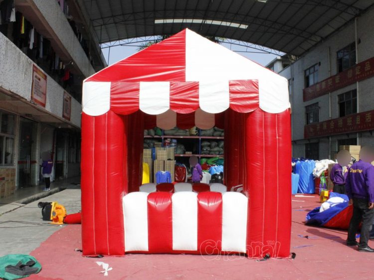 large inflatable carnival booth for selling games and foods