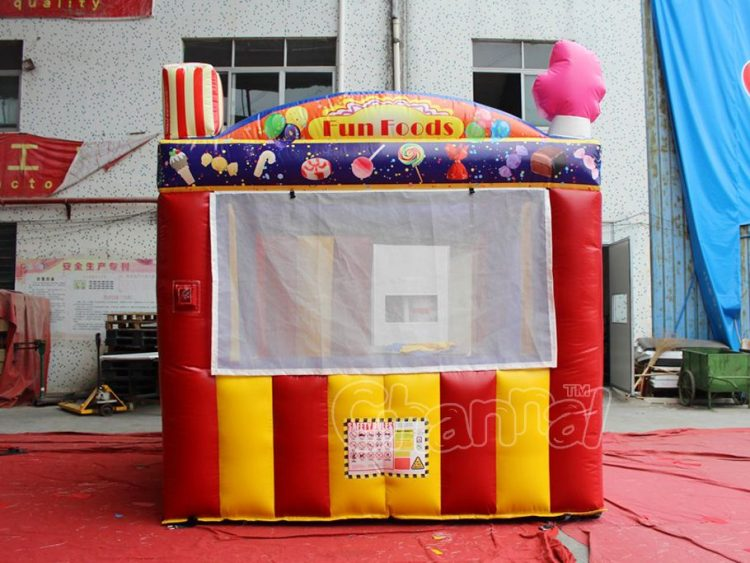inflatable candy carnival booth