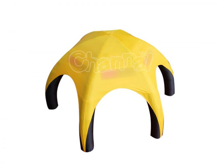 yellow black inflatable spider tent