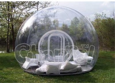 transparent and clear inflatable bubble tent for garden camping