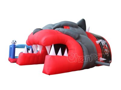 inflatable panther football tunnel for sale