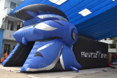 trojan helmet sports tunnel