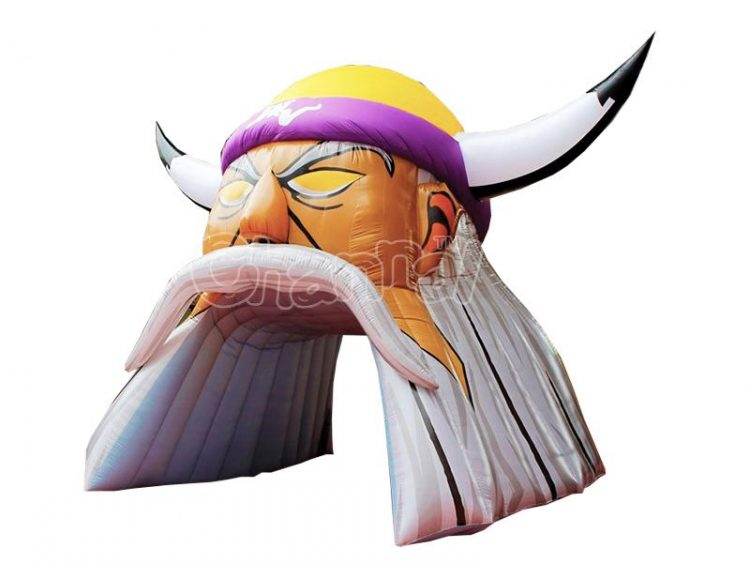 viking mascot inflatable tunnel for football teams