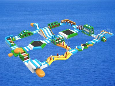 giant floating inflatable water park for ocean and lake