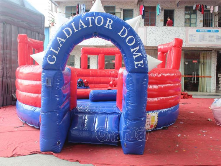 inflatable jousting ring for gladiator joust
