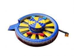 round inflatable jousting arena