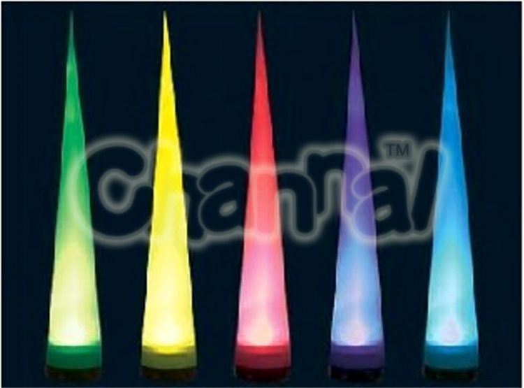 inflatable air cone set with led lights for decoration