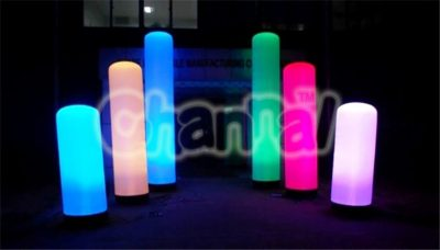 inflatable led lighting columns set