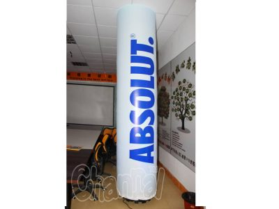 LED lighted inflatable advertising column