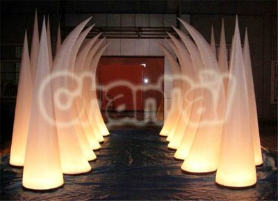 inflatable led tusks alley for wedding ceremony at night