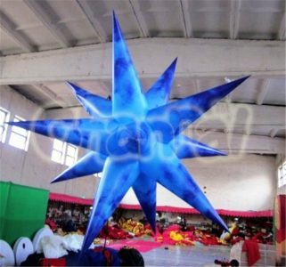 blue inflatable star for hanging decoration