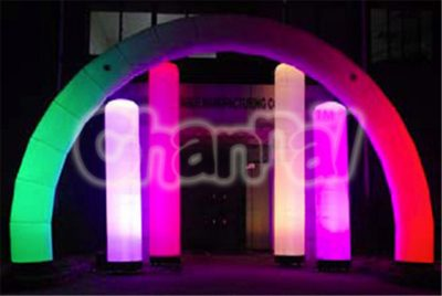 inflatable semi circle arch with lights