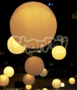 inflatable led light party balloons hanging