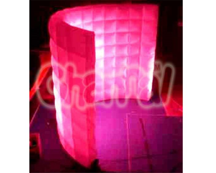 led light inflatable curved wall for photographing