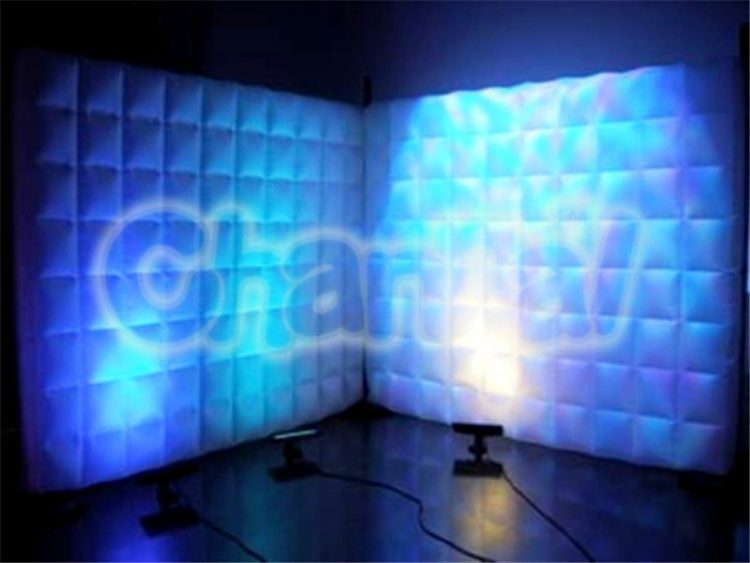 led light inflatable wall divider