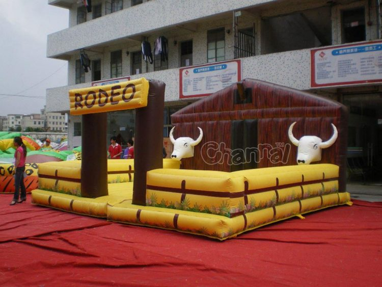 large mechanical rodeo bull corral game for sale