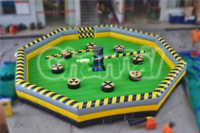 bouncy inflatable meltdown zone game for sale