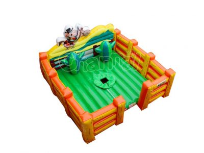 bull ridding inflatable corral platform