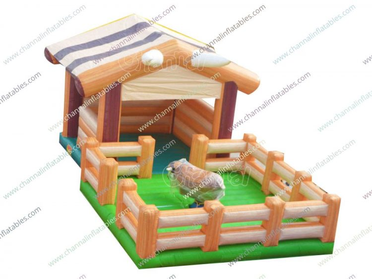 blow up bull riding bounce house