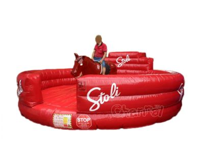 mechanical inflatable bucking bronco riding rodeo